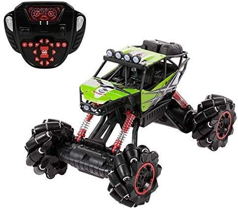 ZAKRLYB 4WD Stunt Car Racing Drift Escalada, 2,4 GHz de Control Remoto de Todo Terreno Campo a través del Coche, Rock Crawler Buggy, RC Entusiasta Vehículo for Adultos niños Regalo de cumpleaños
