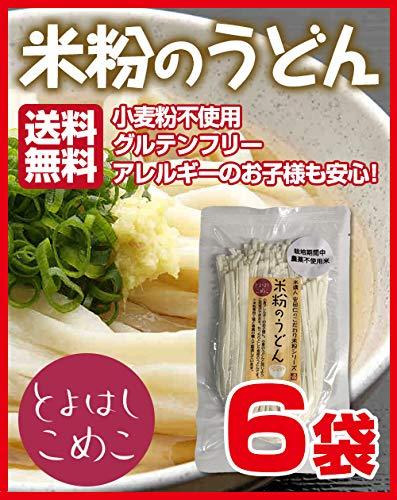 とよはしこめこ 米粉のうどん グルテンフリー・小麦粉フリー・アルミフリー 128g×6袋