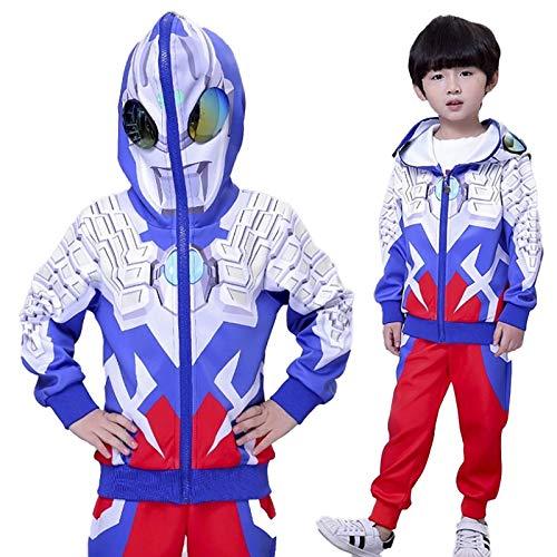 DTZW Sudadera con capucha para niños con personajes de dibujos animados, sudadera de algodón, pantalones y conjuntos de ropa para primavera y otoño (tamaño: 130)