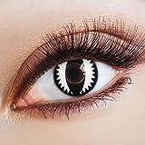 aricona Kontaktlinsen - Lenti a contatto nere con effetto pop bianco - Lenti a contatto co...