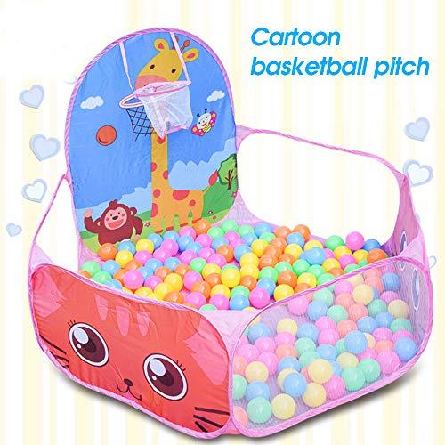 TaiRi Kid Ball Pit Basketball Hoop 4ft / 120cm Kind Kleinkind Ball Ocean Pool Zelt mit Reißverschluss Aufbewahrungstasche Gesunde Pop Up Dolphin Spielzelt