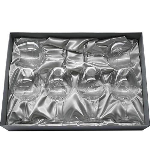 la galaica | Set de 6 Copas de Cristal para Gin&Tonic | Talladas a Mano | Colección Gin 820. Ideales para Regalar a Amigos y Familiares en Bodas y Eventos