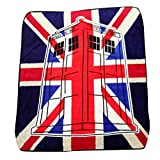 Doctor Who 'Union Jack' Super Plush Silk Touch Blanket Throw