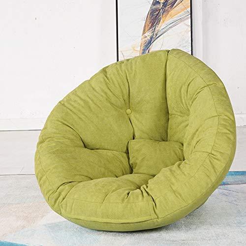 Sofá de Asiento Sofá de Asiento Individual Plegable para 3 usos Lavable Cuerpo Presión Dispersión Redonda Forma Redonda Sentado Cómodo Niños, Adultos y Ancianos,Verde