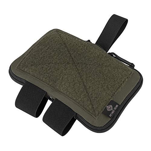 PETAC GEAR Tactical Belt Medical Pouch Compact Admin Pouch EMT First Aid Pouch IFAK Utility Pouch Trauma Kit Organizer Tourniquet Holder (RG)