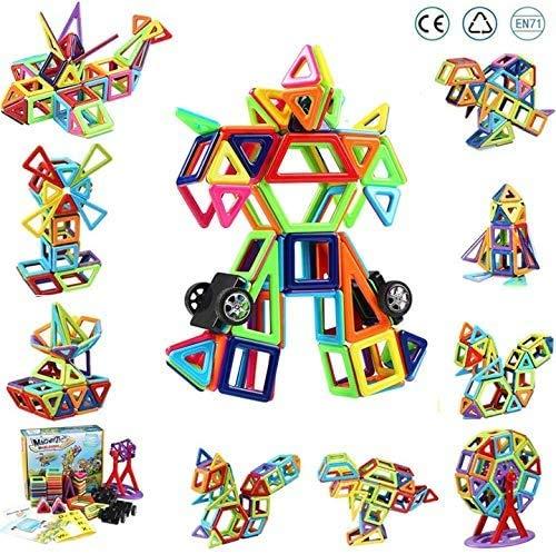 Innoo Tech Magnetische Bausteine, 108tlg Mini Konstruktionsbausteine, Inspirierende Bauklötze Baukasten, Magnetbausteine, Magnetspielzeug Lernspielzeug, Tolles Geschenk für Baby Kleinkind ab 3 Jahre