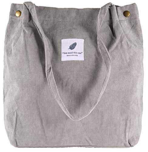 VOKUVIKU Bolsa de Tela Mujer Totes Shopper Bag Tela Compras Grande Bolso de Hombro Trabajo...
