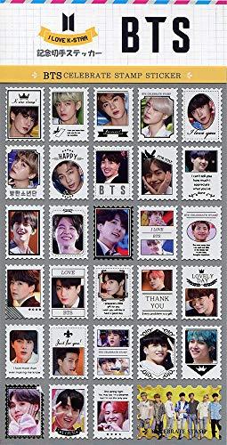 防弾少年団 (BTS) バンタン 記念 切手 シール ステッカー (Celebrate Stamp Sticker) [29ピース] グッズ