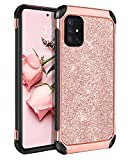 BENTOBEN Samsung Galaxy A51 5G Case, 2 in 1 Hybrid Glitter Sparkle Bling Hard PC Cover Soft TPU Bumper Girls Women Rugged Shockproof Protective Case for Samsung Galaxy A51 5G 6.5' (2020), Rose Gold
