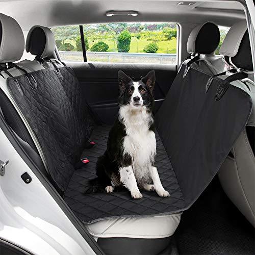 Beinear Hundedecke Auto Rückbank - Kratzfeste, Rutschfeste, Wasserdichte, Universal Autoschondecke Hund Rücksitz Rückbankschutz & Kofferraumschutz für Auto/Van/SUV