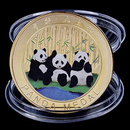 Colección Arte Regalo Monedas de Oso Blanco y Negro Panda Grande Baobao China Conmemorativa, Oro