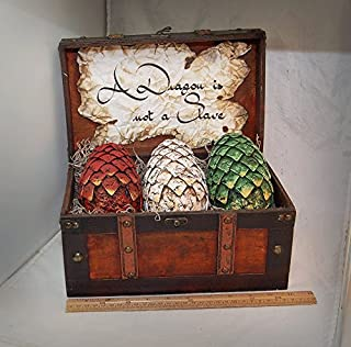 Large Size Game Of Throne's Inspired Dragon Eggs Set w/Chest