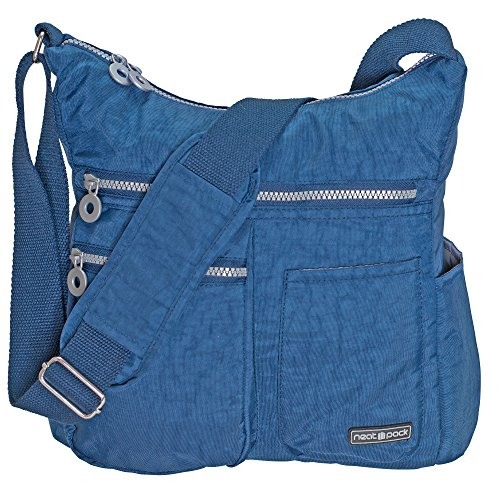 NeatPack Crossbody Bag for Women with Anti Theft RFID Pocket, Blue