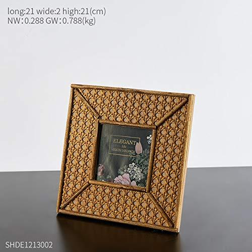 DIAZ Bamboe frame fotolijst inch fotolijst thuis woonkamer desktop decoratie kleine ornamenten creatief, 4 inch