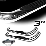 VXMOTOR for Ford (1997-2004 F150) (1997-1999 F250) Light Duty Regular CAB only - Heavy Duty 3' Chrome T304 SS Side Step NERF Bars Rail Running Boards - Ford