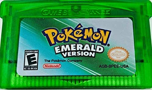 Pokemon Emerald Version gba Game Only Reproduction in Clear Case Gameboy Advance USA product image