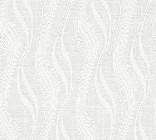 A.S. Création Vliestapete Avenzio Tapete Streifentapete 10,05 m x 0,53 m weiß Made in Germany 247919 2479-19