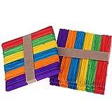 200 piezas de Madera del Arte Palillos Palos de Arte de Colores Lollipop Stick Perfecto para Artculos de Artesana DIY Bricolaje Artesana