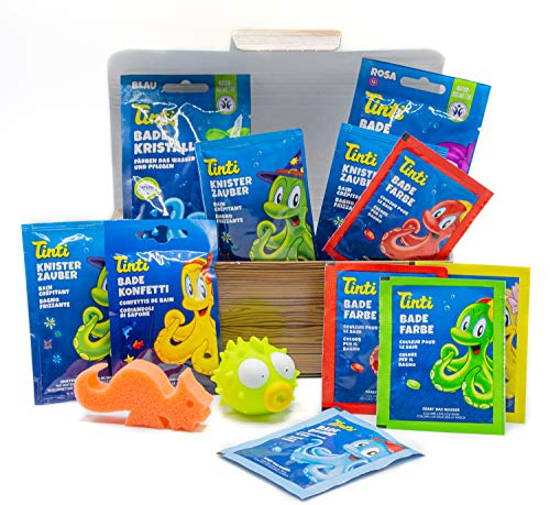 Tinti Badespaß tolle Truhe - 13 Spiel-, Spaß- und Pflegeprodukte für die Badewanne