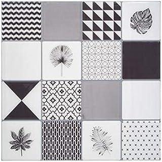 Paris Prix StickN Look Lot de 2 Stickers Carrelage Yto 25x25cm Gris
