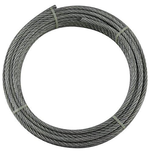 Cables y eslingas Y10607R10003 Y10607R10003-Cable 6 x 7 + 1 (3 mm, Rollo de 100 m, Acero galvanizado)