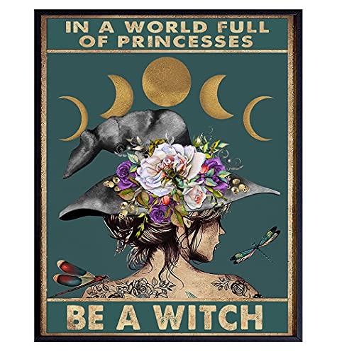 Witch Decor - Hippie Room Decor - Womens Boho Wall Art - Boho Wall Decor - Bohemian Wall Decor - Gothic Decor - Witchy Room Decor - Wicca Decor - Pagan Decor - Witchcraft Wiccan Decor -Goth Wall Decor