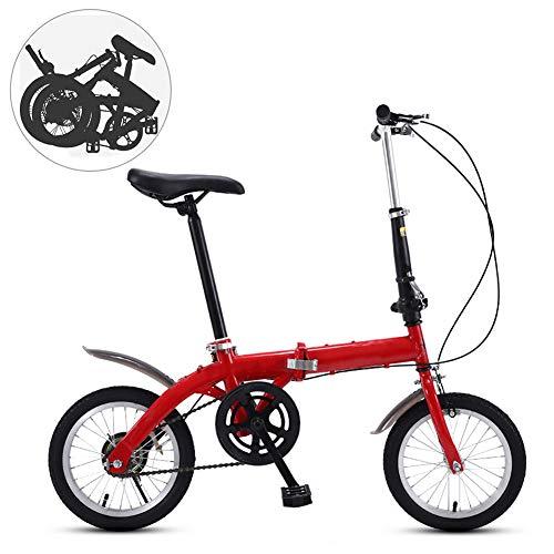 14 Pollici Pieghevoli Biciclette Uomo,Portatile Acciaio Ad Alto Tenore Di Carbonio Bici Da Strada Donna,Leggero Pieghevole Bici Per Adulti Adolescenti A