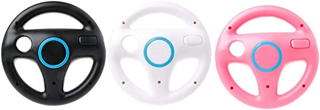 Redcolourful Game Volante Wii Handle Volante para Jogos Wii Preto para CE