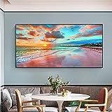 Pinturas en lienzo Póster de paisaje natural Cielo Mar Amanecer Impreso en la decoración del hogar Imágenes artísticas de pared para el arte de la sala de estar 60x120cm sin marco