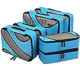 Eono by Amazon - Set di 6 Organizer per Valigie Organizzatori da Viaggio Sistema di Cubo di Viaggio Cubo Borse di Stoccaggio Luggage Packing Organizers Travel Packing Cubes, Blu