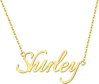 ShineSand Custom Name Necklace, 925 Sterling Silver Personalized Name Necklace Customized Pendant Jewelry Gift for Women