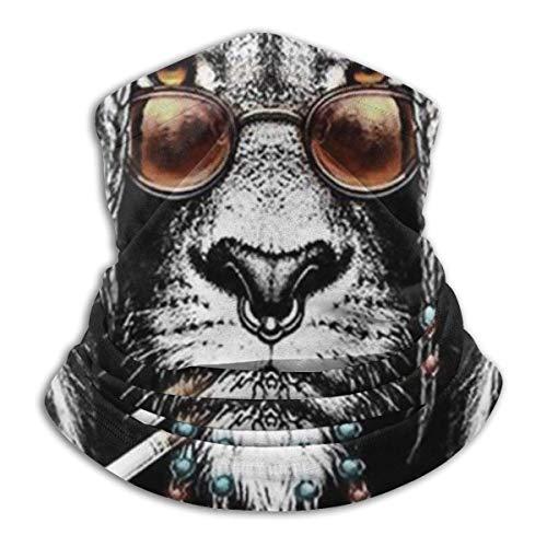 N / A Reggae Rasta Lion Smoking Love Music Bandana Multifuncional Cuello Pañuelo Microfibra Pasamontañas Adulto Polainas De Cuello para Mujer Hombre