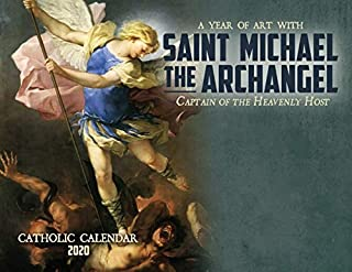 Catholic Religious Liturgical Wall Calendar 2020: Saint Michael The Archangel Champion of God's People Blue Monthly 11