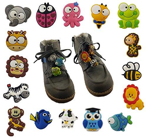 Schuhanhänger Schnürsenkelanhänger für Kinderschuhe / Tiere / Anhänger für Schnürsenkel Schuhe