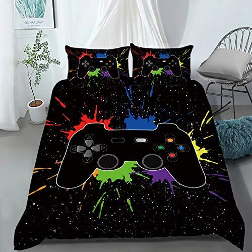 AILONEN Gamer Bedding Sets for Boys, Gaming Duvet Cover Set Twin Size,Boys Video Games Comforter...