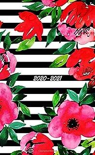 2020-2021: 2-Year Small Pocket Planner Calendar with Phone Directory, Password Keeper and Notebook. 24 Month Agenda, Calendar, and Organizer (Jan 2020 ... Stripe Design Cover (flower pocket calendar)