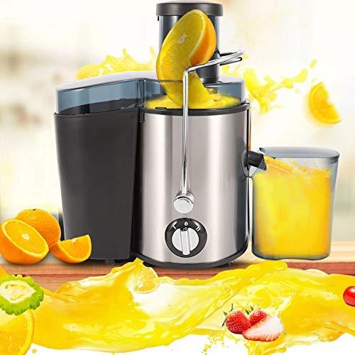 GOTOTOP - Estrattore EE, succo di frutta e verdura in acciaio inossidabile, 500 ml, spremiagrumi regolazione di velocità, estrattore di succo elettrico rimovibile, facile da smontare e pulire