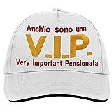 Bombo Berrettino Pensione V.I.P. Very Important Pensionata, Un Regalo umoristico e Divertente per la Vostra Amica.