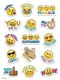 "good job stickers for kids - CTP Emoji Fun Rewards Stickers, Emoji Stickers for Students, Set of 75, 1"" x 1"" Each (Creative Teaching Press 4143)"