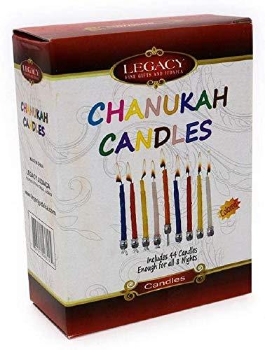 Hanukkah Multi Colored Candles / 44 Per Box