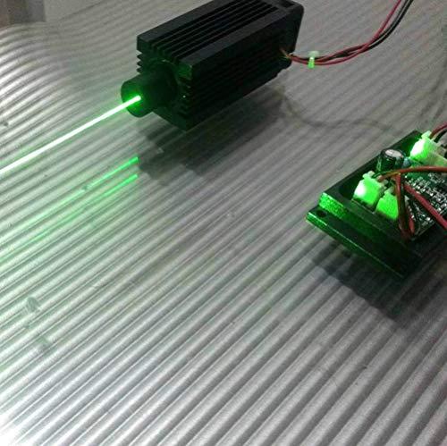 Enfocable 100mw 532nm Verde Laser Punto Módulo/Continuo Trabajo / 5V con TTL.