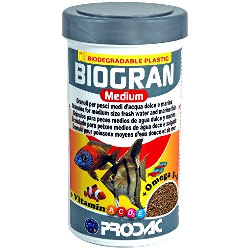 Prodac - Biogran Medium–Mangime per Pesci medi di acqua Dolce e salata, 250ml, 120g.