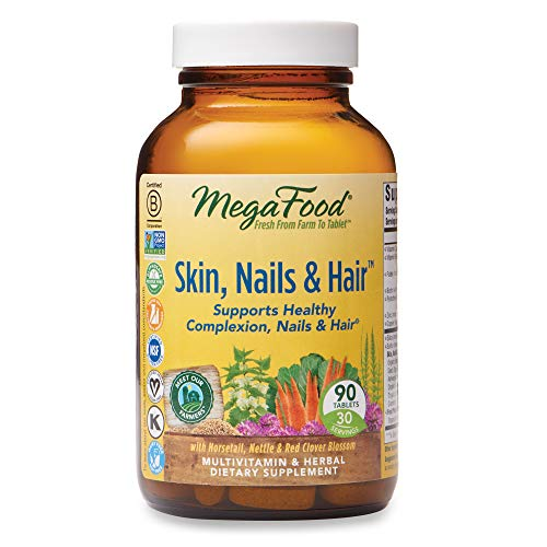 Price comparison product image MegaFood,  Skin,  Nails & Hair,  Supports Healthy Complexion,  Nails & Hair,  Multivitamin & Herbal Dietary Supplement,  Gluten Free,  Vegan,  90 Tablets (30 Servings) (FFP)