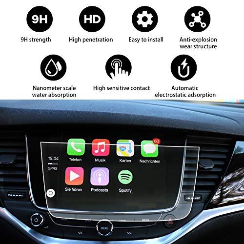 YEE PIN 2017 2018 2019 2020 Opel Astra 5 porte / Astra Sports Tourer Pellicola protettiva Navigazione Protezione Schermo antigraffio Trasparente - Vetro temperato Antipolvere - 8 pollici