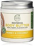 Body Butter, Restaurar, la miel y el aceite de coco, a 8 oz (237 ml) - Pétalo fresca