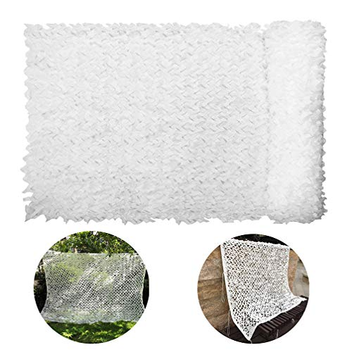 3 * 5m(10ft x 16.4ft) Camouflage Net 210D, Military Desert Camo White Netting for Camping Hunting Shooting Blind Sunscreen Netting Camouflage Party Decoration