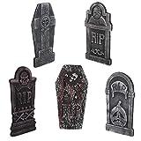 EXCEART 5 piezas Halloween Rip Friedhof, decoración de espuma, lápidas terroríficas,...