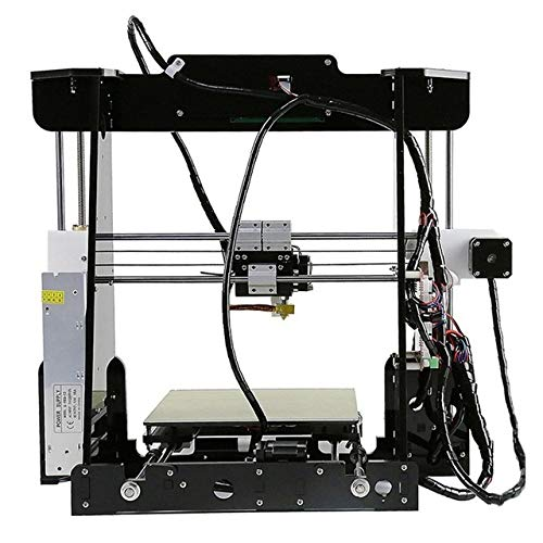 3D Printer A8 Diy Kit PLA ABS 2004 LCD Screen Special MK8 Extrusion Nozzle T-Shaped Screw Stainless Steel Shaft shipping from UK (Color : UK)