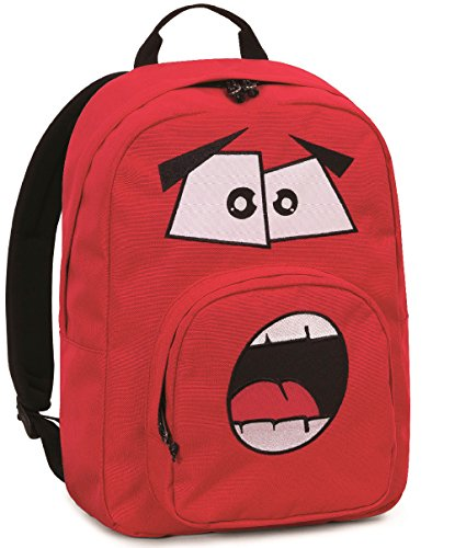 Rucksack Invicta , Ollie Pack Face , 25 Lt , Rot ,  Laptop-tablet Fach