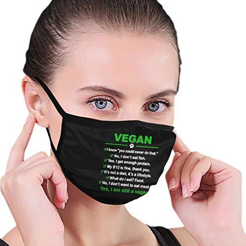 Preisvergleich Produktbild Ich Bin Immer noch EIN Veganer Männer Frauen Kinder Teenager Drucken S-Moke Allergien Waschbar Wiederverwendbarer Gesichtswärmer Sturmhaube Reinigung Mund-Abdeckung